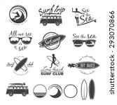 surfer vector set. vintage surf ...