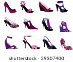shoes | Shutterstock .eps vector #29307400
