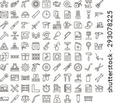 black manufacture icon set | Shutterstock .eps vector #293078225
