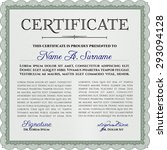certificate template or diploma ... | Shutterstock .eps vector #293094128