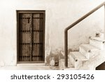 a stairway leads to the roof...   Shutterstock . vector #293105426