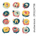 sport speech bubble flat banner ... | Shutterstock . vector #293124758