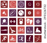 vector set of sport icons | Shutterstock .eps vector #293126732