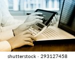 business accounting  | Shutterstock . vector #293127458