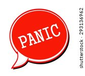 panic white stamp text on red... | Shutterstock . vector #293136962