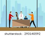 group of business people... | Shutterstock .eps vector #293140592
