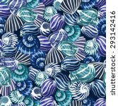 seamless pattern with sea... | Shutterstock .eps vector #293142416
