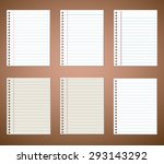 set of notebook paper sheets | Shutterstock .eps vector #293143292