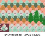 tree pattern background | Shutterstock .eps vector #293145308