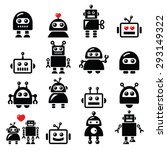 male and female robot ... | Shutterstock .eps vector #293149322