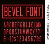 beveled narrow block letters ... | Shutterstock .eps vector #293154662