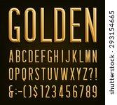 gold effect beveled narrow... | Shutterstock .eps vector #293154665