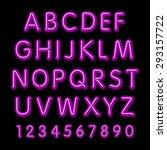 neon glow alphabet. vector... | Shutterstock .eps vector #293157722