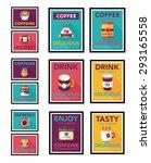 coffee poster flat banner... | Shutterstock . vector #293165558