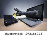 stealing a credit card through... | Shutterstock . vector #293166725