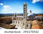 siena cathedral  the dome  in... | Shutterstock . vector #293170532