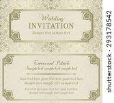 antique baroque wedding... | Shutterstock .eps vector #293178542