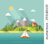 summer landscape. little... | Shutterstock .eps vector #293180135