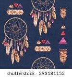 watercolor ethnic seamless... | Shutterstock . vector #293181152