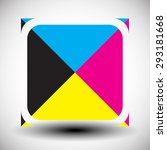 cmyk concept graphics. simple... | Shutterstock .eps vector #293181668