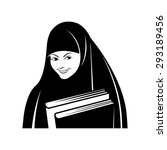 vector drawing of muslim girl... | Shutterstock .eps vector #293189456