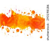 watercolor orange watercolor... | Shutterstock .eps vector #293198186
