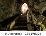 Rock Stair In Cave By Long...