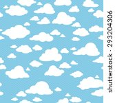 Blue Sky With Clouds  Vector...