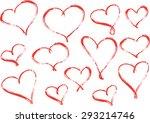 vector heart shapes | Shutterstock .eps vector #293214746