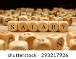 salary word written on wood... | Shutterstock . vector #293217926