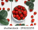 Strawberry On A White Wood...