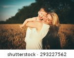 mom and son having fun by the... | Shutterstock . vector #293227562