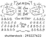 set of hand drawn rustic... | Shutterstock .eps vector #293227622