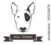 vector image of an dog  bull... | Shutterstock .eps vector #293228378