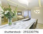 luxury dining room in modern... | Shutterstock . vector #293230796