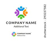 bright colorful twisted logo... | Shutterstock .eps vector #293237582