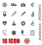 vector grey medical icon set. | Shutterstock .eps vector #293245472