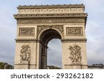 arc de triomphe de l'etoile on...   Shutterstock . vector #293262182