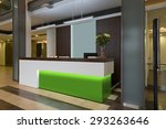 lobby with a reception desk | Shutterstock . vector #293263646