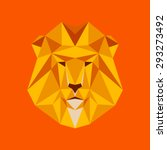 lion portrait. abstract low... | Shutterstock .eps vector #293273492