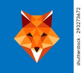 fox portrait. abstract low poly ... | Shutterstock .eps vector #293273672