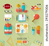school illustration workspace.... | Shutterstock .eps vector #293279306