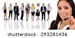 young business team and... | Shutterstock . vector #293281436
