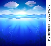 sky and underwater background... | Shutterstock .eps vector #293284346
