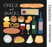 kitchen preparations. menu... | Shutterstock .eps vector #293295812