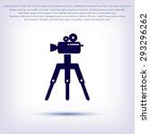 video camera icon | Shutterstock .eps vector #293296262