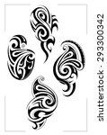 art nouveau design elements | Shutterstock .eps vector #293300342