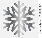 silver snowflake   vector icon   Shutterstock .eps vector #293302736