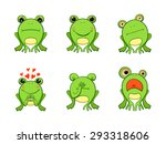 Frog Mascot Emoticons  Smiley...