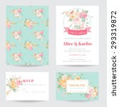invitation or greeting card set ... | Shutterstock .eps vector #293319872